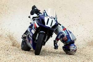 Падении с мотоцикла