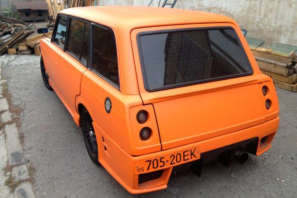 Покраска в спортивный цвет ярко оранжевій
