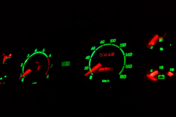 Тюнинг приборов с зеленой подсветкой