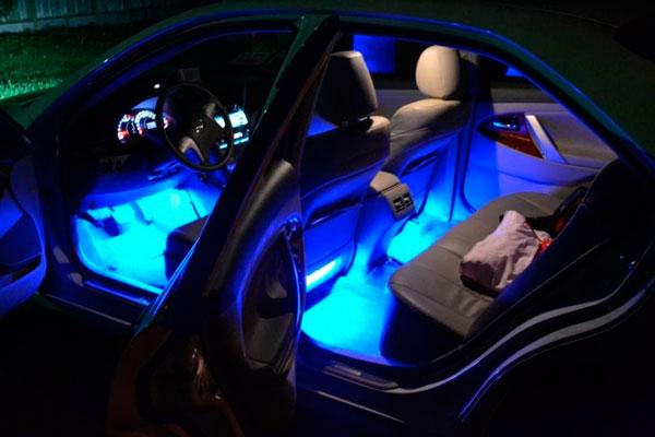 Светодиодная подсветка салона установка готово